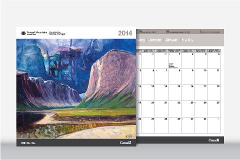 Parks Canada calendar for Torngat Mountains National Park