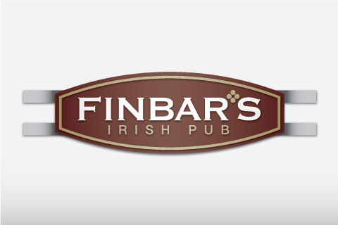 Illustration of exterior sign for Finbar's Irish Pub