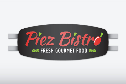 Illustration of exterior sign for Piez Bistro
