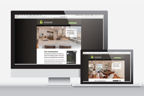 Archwood Construction website